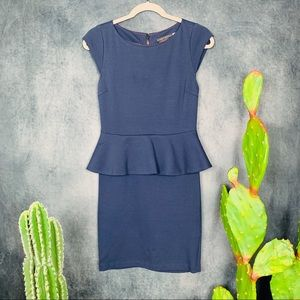 🌵Alice + Olivia Victoria Peplum Dress, Navy 6